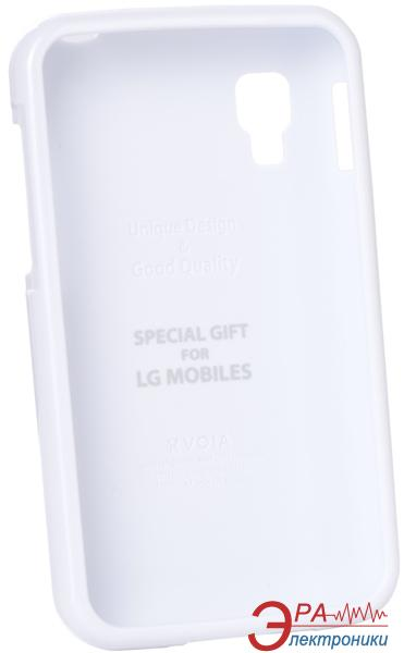 Чехол VOIA LG Optimus L4II Dual - Jelly Case (White)