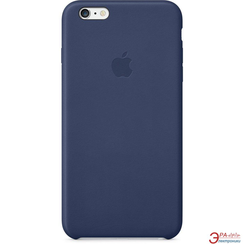 Чехол Apple iPhone 6 Plus Leather Case Midnight Blue (MGQV2ZM/A)