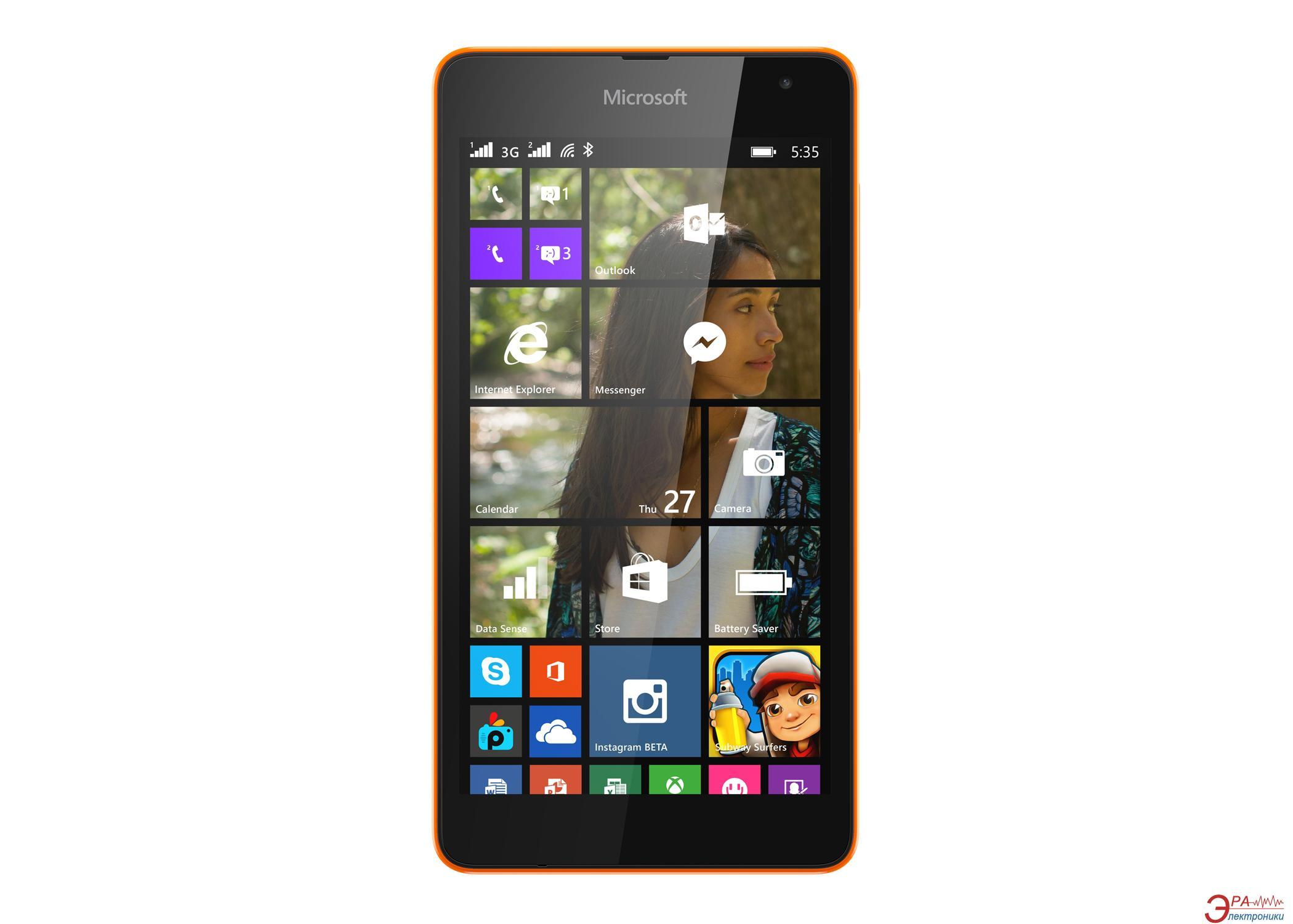 Смартфон Microsoft Lumia 535 Dual Orange (A00021945)