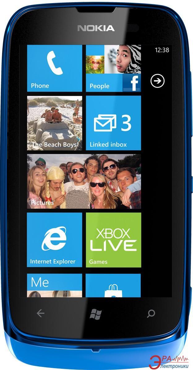 Смартфон Nokia Lumia 610 Cyan (A00005550)