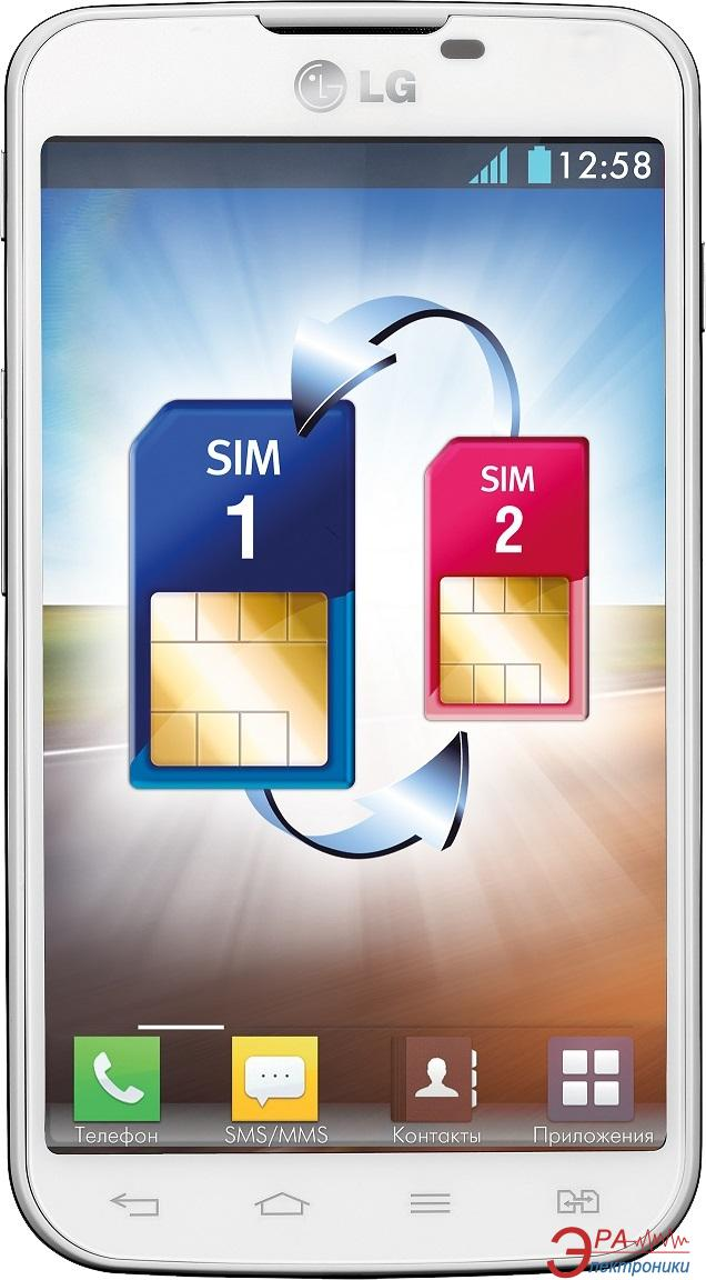 Смартфон LG Optimus L5 II Dual White (E455) (LGE455.ACISWH)