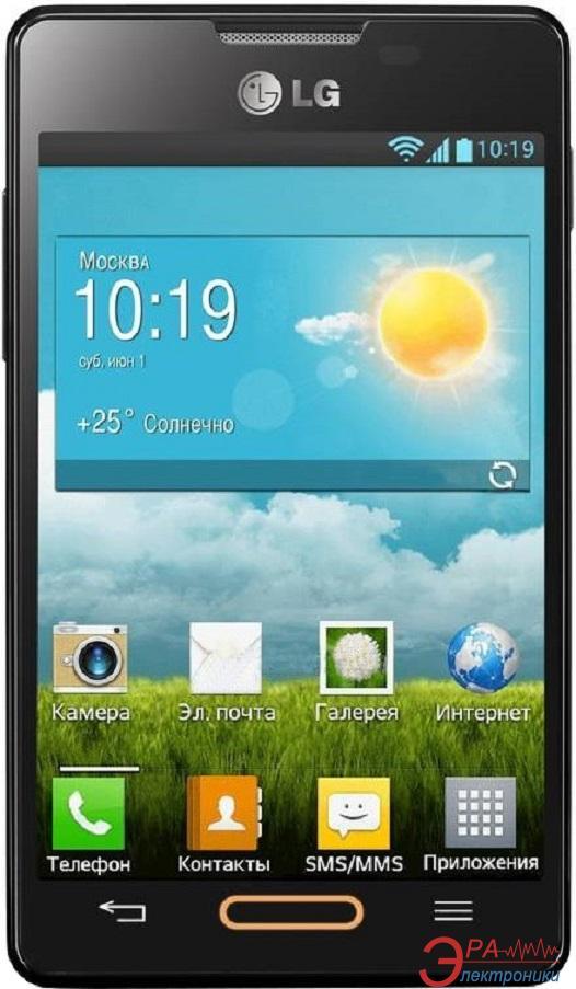 Смартфон LG E440 (Optimus L4 II) Black