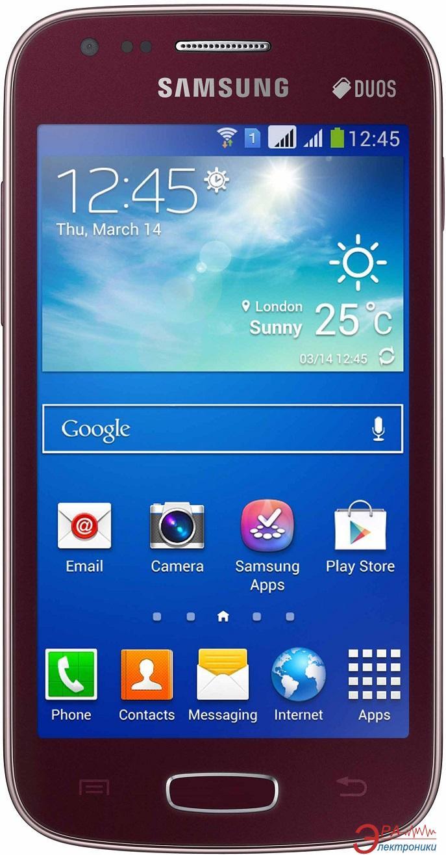 Смартфон Samsung GT-S7272 Galaxy Ace 3 Duos WRA (wine red) (GT-S7272WRASEK)