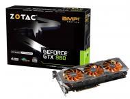Видеокарта Zotac Nvidia GeForce GTX 980 AMP! Edition GDDR5 4096 Мб (ZT-90204-10P)