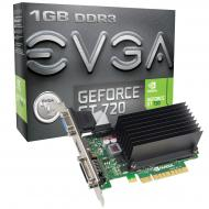 ���������� EVGA Nvidia GeForce GT 720 GDDR3 1024 �� (01G-P3-2722-KR)