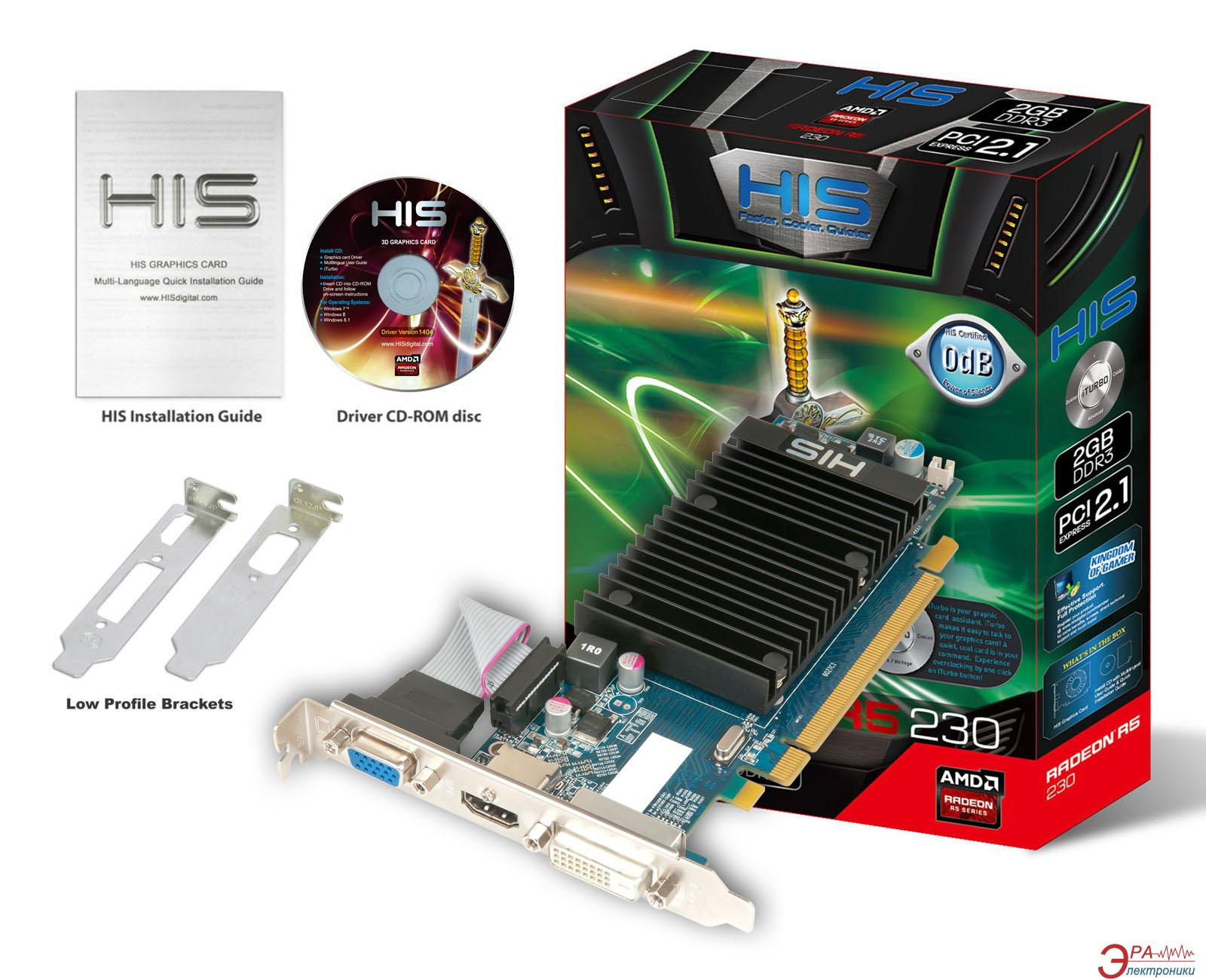Видеокарта HIS Radeon R5 230 Silence GDDR3 2048 Мб (H230H2G)