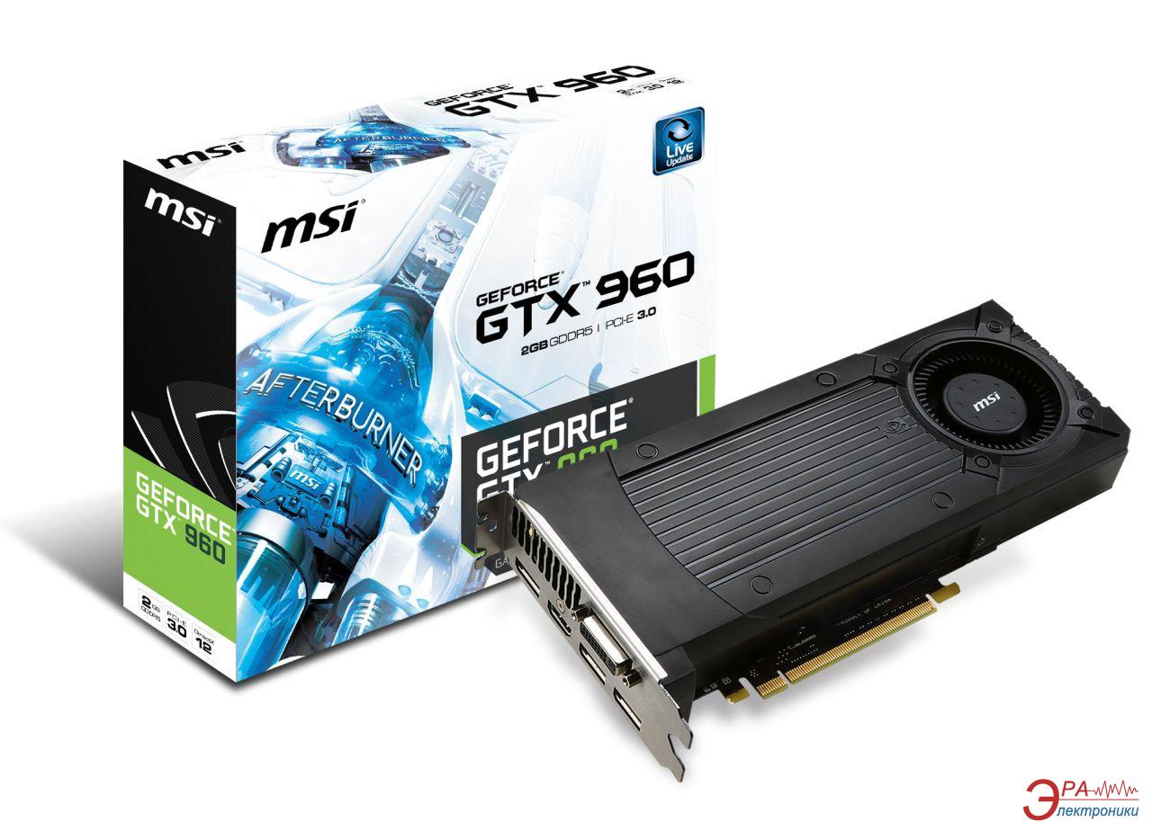Видеокарта MSI Nvidia GeForce GTX 960 GDDR5 2048 Мб (GTX 960 2GD5)