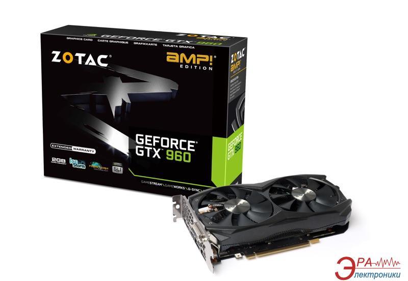 Видеокарта Zotac Nvidia GeForce GTX 960 AMP! Edition GDDR5 2048 Мб (ZT-90303-10M)