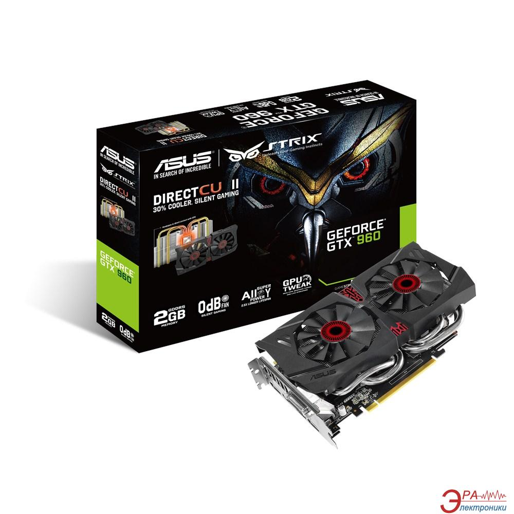 Видеокарта Asus Nvidia GeForce GTX 960 STRIX GDDR5 2048 Мб (STRIX-GTX960-DC2-2GD5)