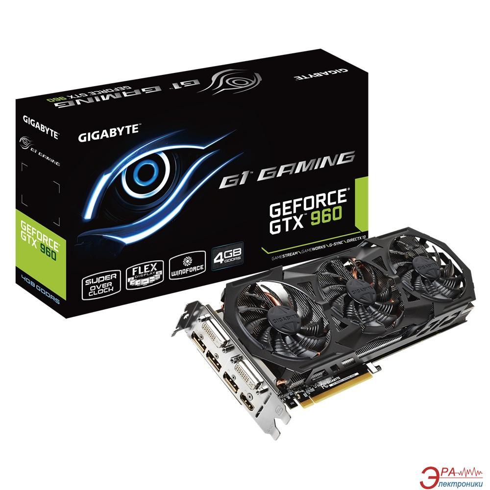 Видеокарта Gigabyte Nvidia GeForce GTX 960 GDDR5 2048 Мб (GV-N960G1 GAMING-4GD) 1.0 (GVN960G14D-00-G)