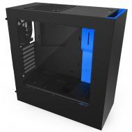 Корпус NZXT S340 Black/Blue (CA-S340MB-GB) Без БП