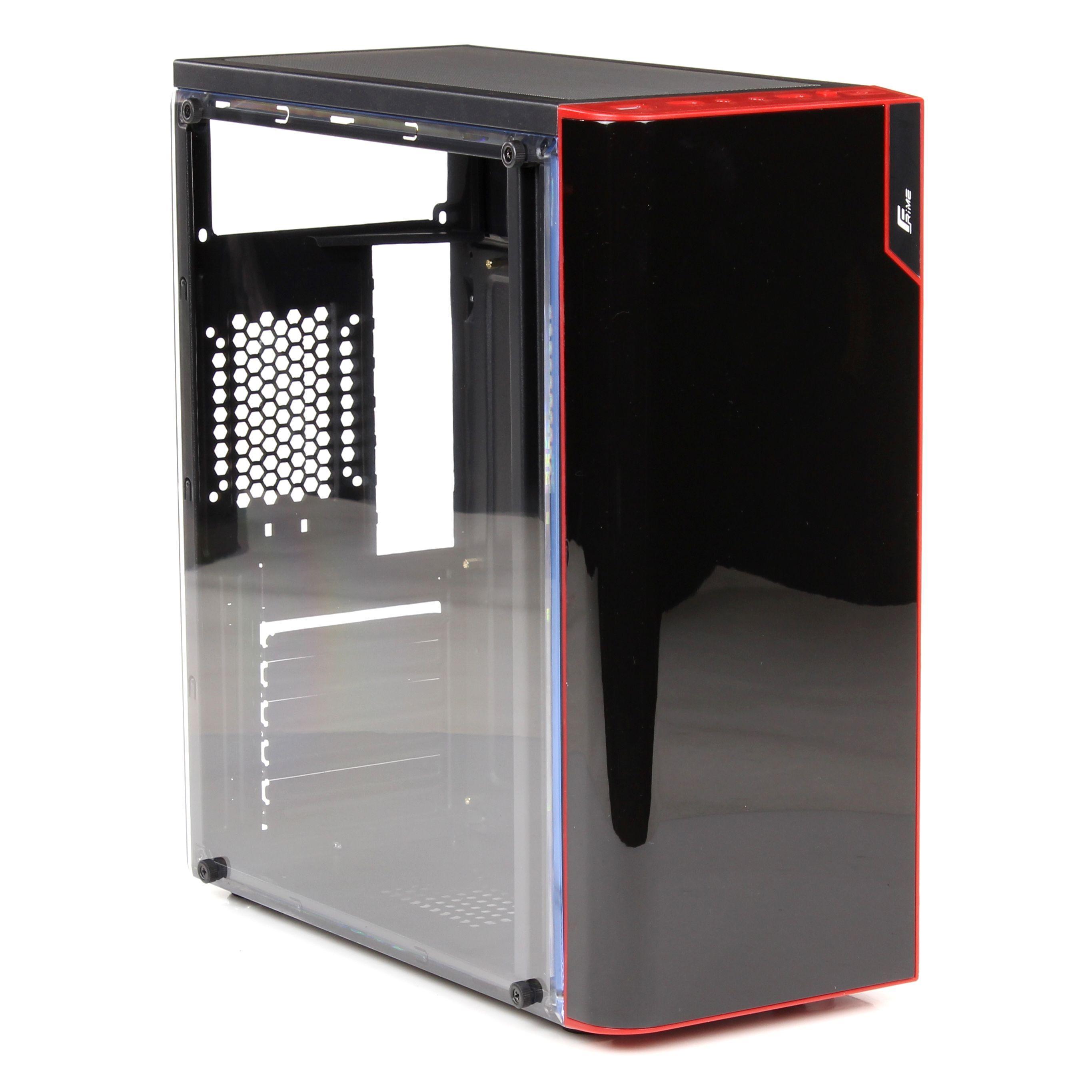 Купить корпус для ПК Frime Vision red led USB 3.0 (Vision-U3-3RSRF-WP) Без БП  Черный - 828 грн в интернет-магазине Эра Электроники