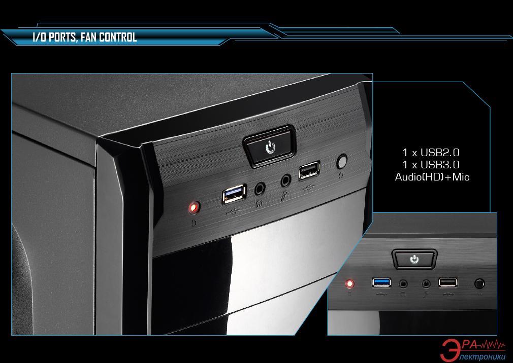 Корпус AeroCool PGS V3 X Advance Black + Aerocool VХ-550 (4713105954753) 550W