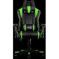 Кресло для геймеров Aerocool AC220BG Black-Green + 2 подушки (ACGC-2003101.G1)
