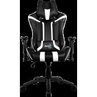 Кресло для геймеров Aerocool AC120BW Black-White + 2 подушки (ACGC-2002101.21)