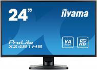 Монитор TFT 23.6  Iiyama X2481HS-B1