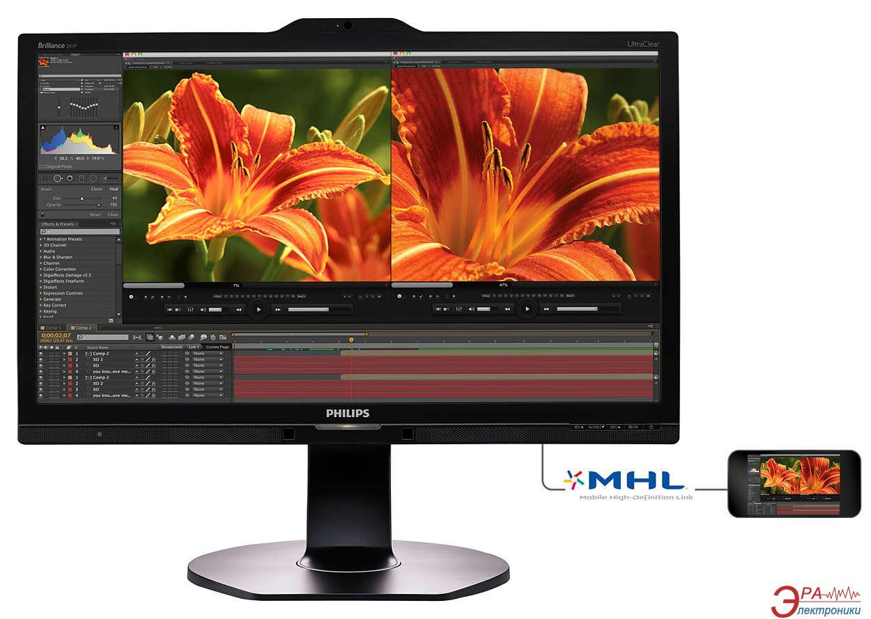 Монитор 23.8  Philips 241P6VPJKEB/00 Black