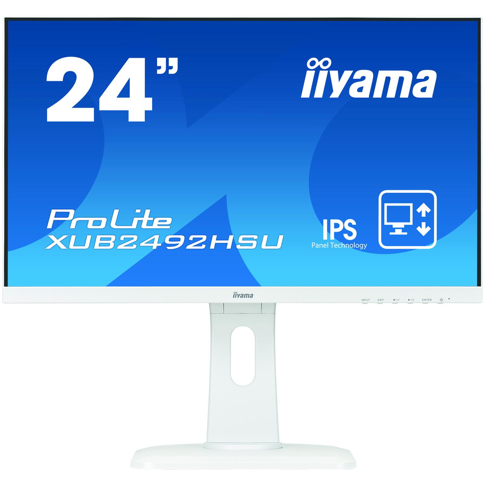 Монитор 23.8  Iiyama XUB2492HSU-W1