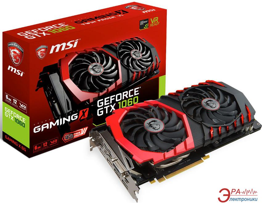 Видеокарта MSI GeForce GTX 1060 GAMING X GDDR5 6144 Мб (GF_GTX_1060_GAMING_X_6G)