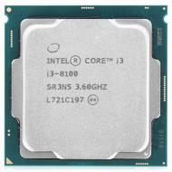 Процессор Intel Core i3 8100 (CM8068403377308) Socket-1151 Tray