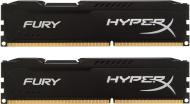 DDR3 2x4 �� 1866 ��� Kingston HyperX Fury Black (HX318C10FBK2/8)