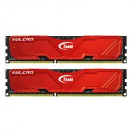 DDR3 2x4 Гб 1600 МГц Team Vulcan Red (TLRED38G1600HC9DC01)