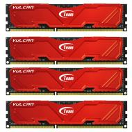 DDR3 4x8 Гб 1600 МГц Team Vulcan Red (TLRED332G1600HC9QC01)