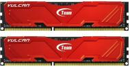 DDR3 2x4 Гб 1866 МГц Team Vulcan Red (TLRED38G1866HC11DC01)