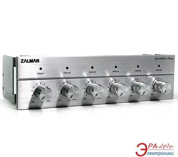 Регулятор оборотов кулера Zalman Multy Fan Speed Controller ZM-MFC1 Plus Silver