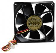 Вентилятор для корпуса Gembird FANCASE/BALL (80x80x25mm/2500 rpm/25 dBA/BB/3pin)