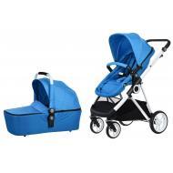 Детская коляска универсальная 2в1 Miqilong Mi baby T900 Navy Blue (T900-U2BL01)