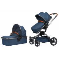 Детская коляска универсальная 2в1 Miqilong V baby X159 Navy Blue (X159-09)