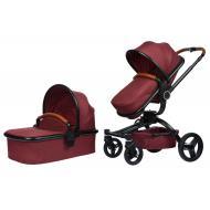 Детская коляска универсальная 2в1 Miqilong V baby X159 Dark red (X159-05)