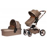 Детская коляска универсальная 2в1 Miqilong V baby X159 Brown (X159-02)