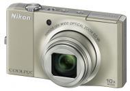 Цифровой фотоаппарат Nikon COOLPIX S8000 Silver (VMA510E1)