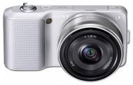 Цифровой фотоаппарат Sony NEX-3 + 16mm + 18-55mm KIT Silver (NEX3DS.CEE2)
