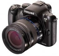 Цифровой фотоаппарат Samsung NX10 + объектив 18-55mm Black (EV-NX10ZZBABUA)