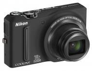 Цифровой фотоаппарат Nikon COOLPIX S9100 Black (VMA771E1)