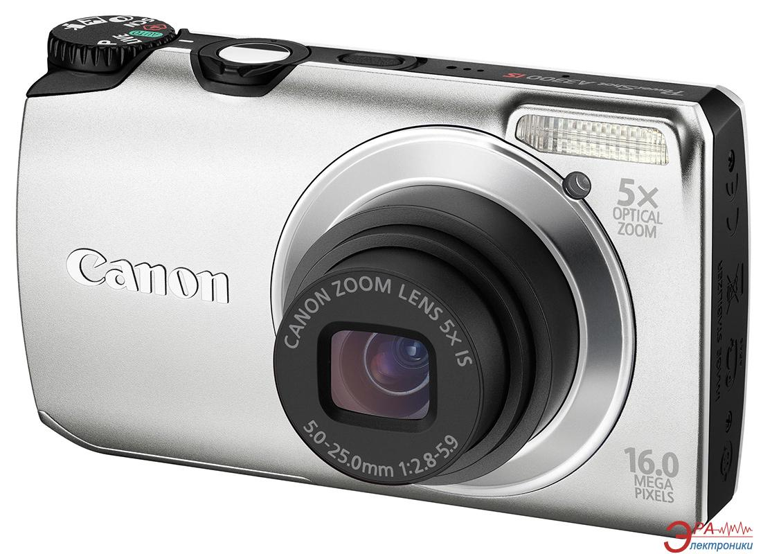 Цифровой фотоаппарат Canon PowerShot A3300 IS Silver (5033B018)