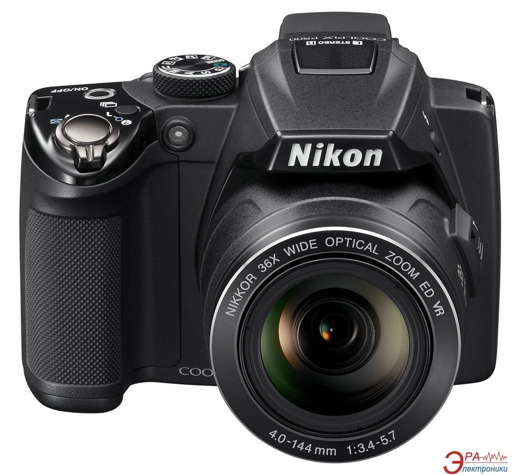 Цифровой фотоаппарат Nikon COOLPIX P500 Black (VMA670E1)