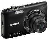 Цифровой фотоаппарат Nikon COOLPIX S3100 Black (VMA711E1)