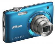 Цифровой фотоаппарат Nikon COOLPIX S3100 Blue (VMA715E1)