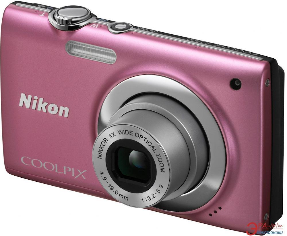Цифровой фотоаппарат Nikon COOLPIX S2500 Pink (VMA783E1)