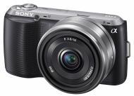 Цифровой фотоаппарат Sony NEX-C3 + объектив 16mm KIT Black (NEXC3AB.CEE2)