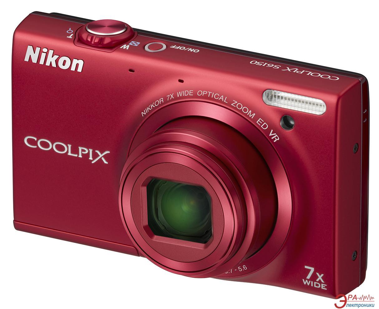 Цифровой фотоаппарат Nikon COOLPIX S6150 Red