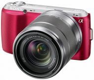 Цифровой фотоаппарат Sony NEX-C3 + объектив 18-55mm KIT Pink (NEXC3KP.CEE2)