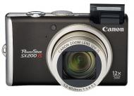 Цифровой фотоаппарат Canon PowerShot SX200 IS Black (3509B002)