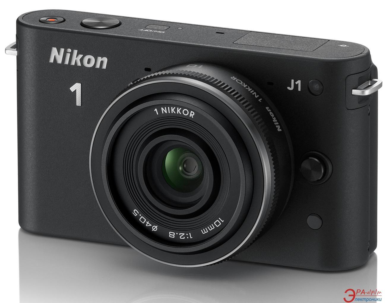 Цифровой фотоаппарат Nikon 1 J1 Kit + объектив 10mm f/ 2.8 Black (VVA151K002)
