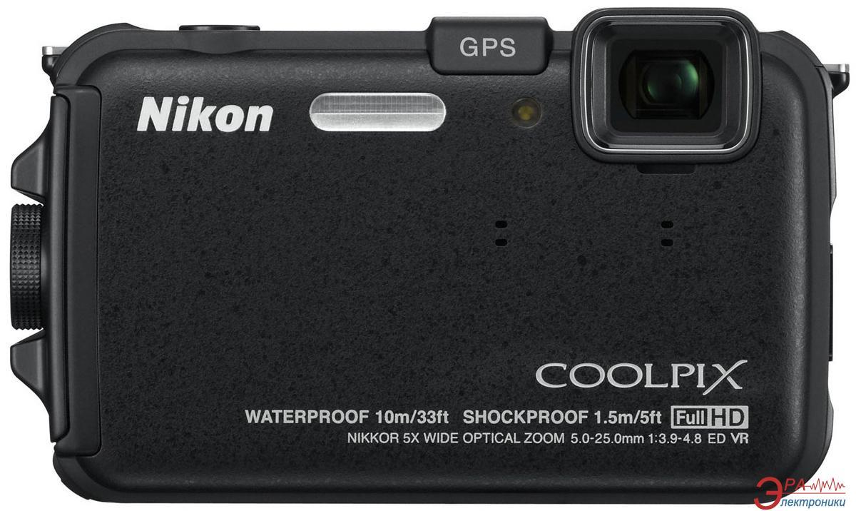 Цифровой фотоаппарат Nikon COOLPIX AW100 Black (VMA891E1)