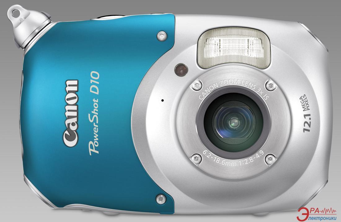 Цифровой фотоаппарат Canon PowerShot D10 Blue